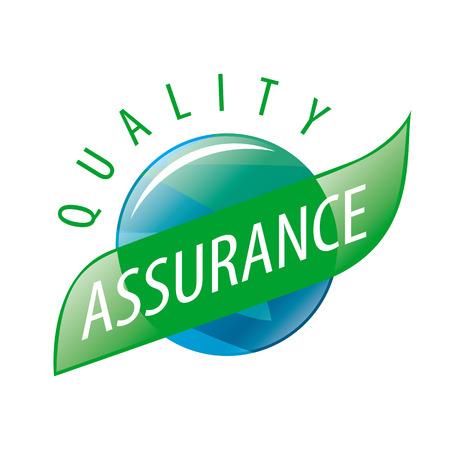 Illustration pour Round vector logo quality assurance - image libre de droit