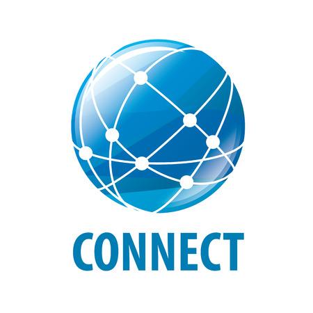 vector logo global network worldwide