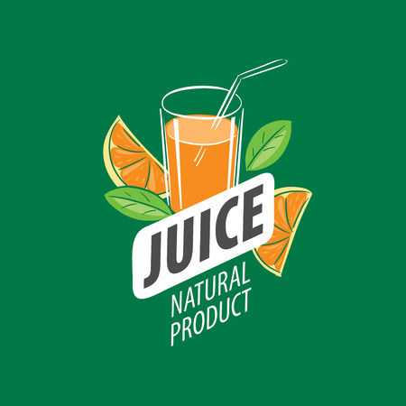 vector icon fresh juice from natural products