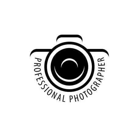 Illustration for Vector logo template for a photographer or studio - Royalty Free Image