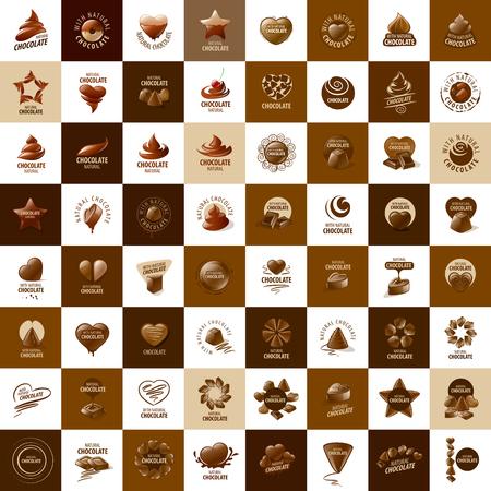 Illustration pour Template logo chocolate and sweets. Vector illustration - image libre de droit