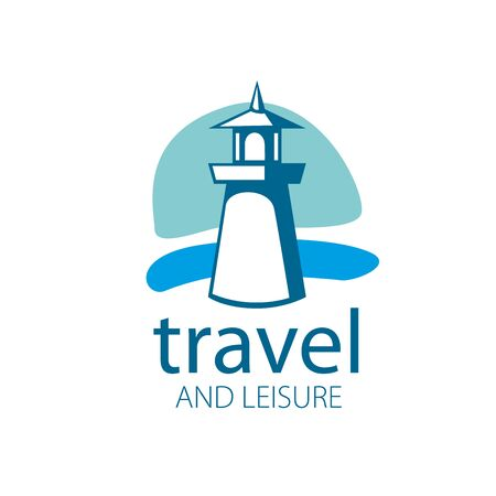 Vector illustration of a lighthouse. logo template for travel