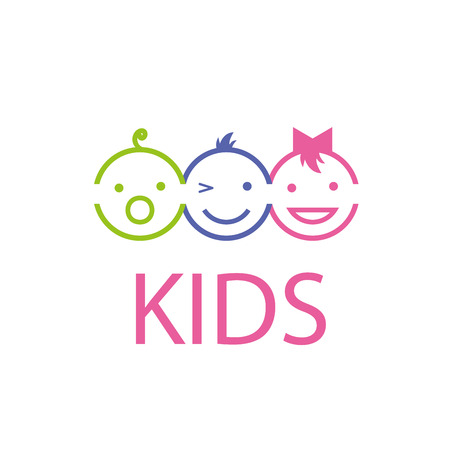 Photo pour Template design logo kids. Vector illustration of icon - image libre de droit