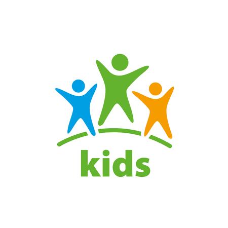 Ilustración de Template design logo kids. Vector illustration of icon - Imagen libre de derechos