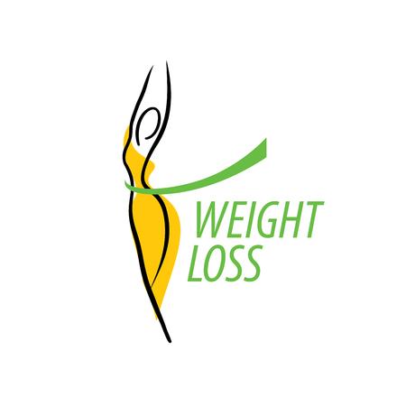 Ilustración de template design logo weight loss. Vector illustration of icon - Imagen libre de derechos