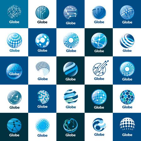 Ilustración de vector logo globe - Imagen libre de derechos