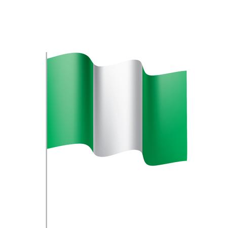 Nigeria flag, vector illustration