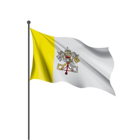 Illustration pour Vatican national flag, vector illustration on a white background - image libre de droit
