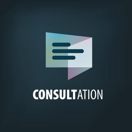 Illustration pour Sign for online consultation. Vector illustration of the icon. - image libre de droit