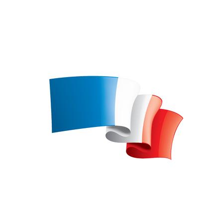 Illustration pour France flag, vector illustration on a white background - image libre de droit