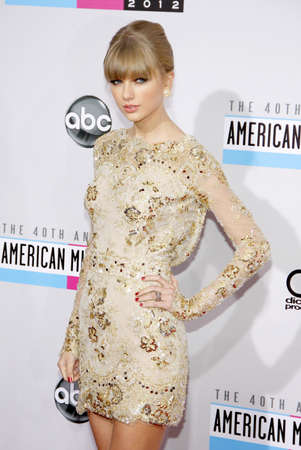 Taylor Swift at the 40th Anniversary American Music Awards held at the Nokia Theatre L.A. Live in Los Angeles, United States, 181112.