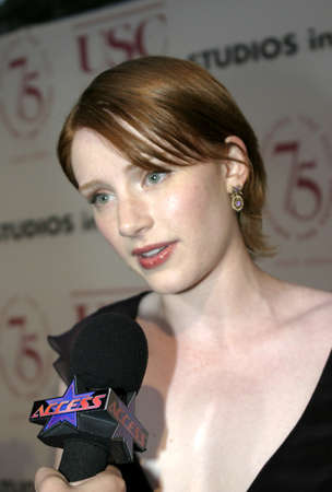 LOS ANGELES, CA - SEPTEMBER 26, 2004: Bryce Dallas Howard at the 75th Diamond Jubilee Celebration for the USC School of Cinema-Television held at the USC's Bovard Auditorium in Los Angeles, USA on September 26, 2004.