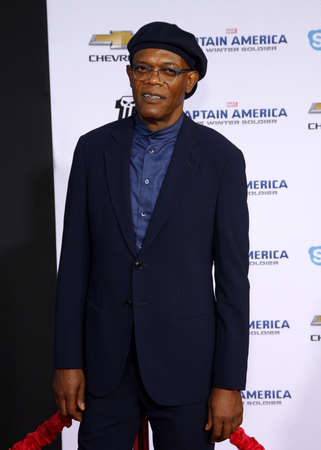 Samuel L. Jackson at the Los Angeles premiere of Captain America: The Winter Soldier held at the El Capitan Theatre in Los Angeles, USA on March 13, 2014.