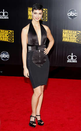 Morena Baccarin at the 2009 American Music Awards held at the Nokia Theater in Los Angeles on November 22, 2009.