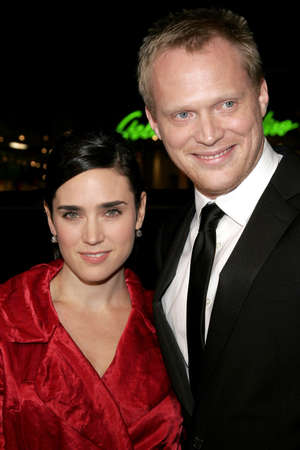 HOLLYWOOD, CA - FEBRUARY 02, 2006: Jennifer Connelly and Paul Bettany at the World premiere of 'Firewall' held at the Grauman's Chinese Theatre in Hollywood, USA on February 2, 2006.