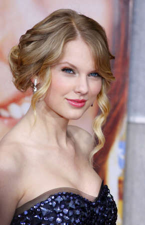 Taylor Swift at the Los Angeles premiere of 'Hannah Montana The Movie' held at the El Capitan Theater in Hollywood on April 4, 2009.