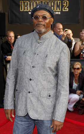 Samuel L. Jackson at the Los Angeles premiere of 'Iron Man 2' held at the El Capitan Theater in Hollywood on April 26, 2010.