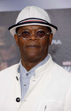 Samuel L. Jackson at the Los Angeles premiere of 'Marvel's The Avengers' held at the El Capitan Theater in Los Angeles on April 11, 2012.