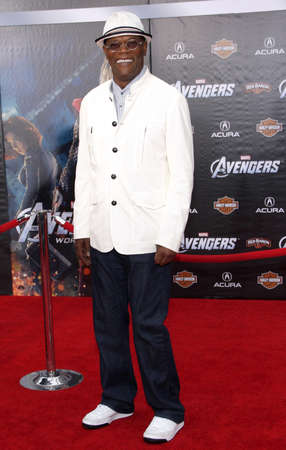 Samuel L. Jackson at the Los Angeles premiere of 'Marvel's The Avengers' held at the El Capitan Theatre in Los Angeles, USA on April 11, 2012.
