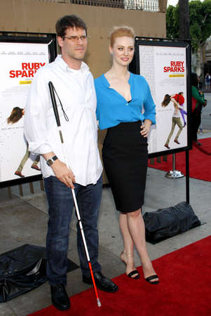 Deborah Ann Woll and E.J. Scott at the Los Angeles premiere of 'Ruby Sparks' held at the Egyptian Theatre in Hollywood, USA on July 19, 2012.