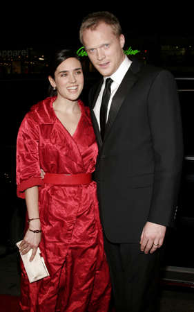 Jennifer Connelly and Paul Bettany at the World premiere of Firewall held at the Grauman's Chinese Theatre in Hollywood, California, United States on February 2, 2006.