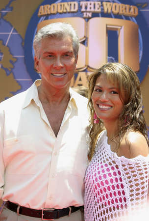 Michael Buffer at the Los Angeles premiere of 'Around The World In 80 Days' held at the El Capitan Theater in Hollywood, USA on June 13, 2004.
