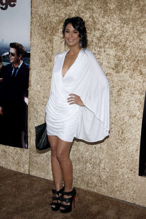 Emmanuelle Chriqui at the HBO's 'Entourage' Season 7 Premiere held at the Paramount Studios lot in Hollywood, USA on June 16, 2010.