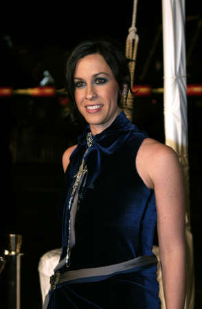 Alanis Morissette at the Los Angeles premiere of 'Blade: Trinity' held at the Grauman's Chinese Theater in Hollywood, USA on December 7, 2004.