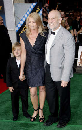 John Malkovich and Peta Wilson at the Los Angeles premiere of Secretariat held at the El Capitan Theater in Hollywood, USA on September 30, 2010.