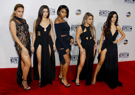 Ally Brooke, Normani Kordei, Dinah Jane, Camila Cabello and Lauren Jauregui of Fifth Harmony at the 2016 American Music Awards held at the Microsoft Theater in Los Angeles, USA on November 20, 2016.