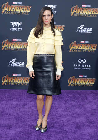 Jennifer Connelly at the premiere of Disney and Marvel's 'Avengers: Infinity War' held at the El Capitan Theatre in Hollywood, USA on April 23, 2018.