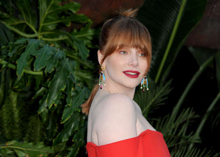 Bryce Dallas Howard at the Los Angeles premiere of 'Jurassic World: Fallen Kingdom' held at the Walt Disney Concert Hall in Los Angeles, USA on June 12, 2018.