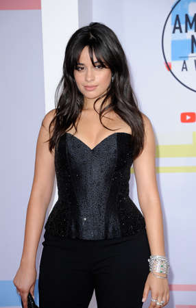 Camila Cabello at the 2018 American Music Awards held at the Microsoft Theater in Los Angeles, USA on October 9, 2018.