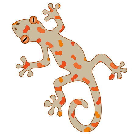 Illustration pour An illustration of a gecko - image libre de droit