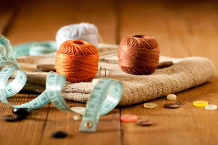 Vintage with sewing tools