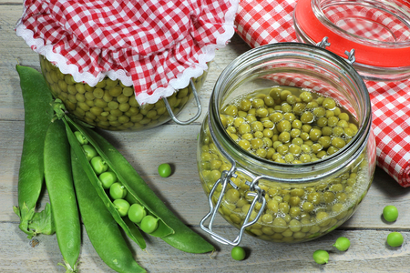 Home canned peas