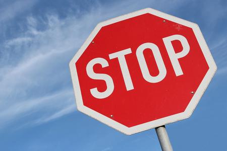 Photo pour German road sign - stop - image libre de droit