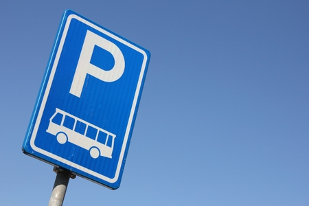 Dutch road sign: parking facilities for buses only