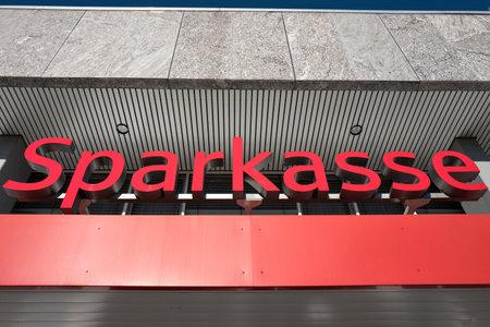 entrance of a German Sparkasse