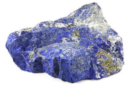 Photo for lapis lazuli from Afghanistan isolated on white background - Royalty Free Image