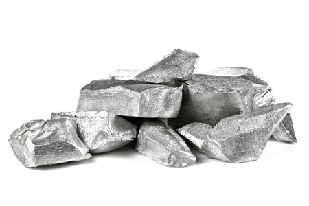 Photo for 99.99% fine aluminum isolated on white background - Royalty Free Image