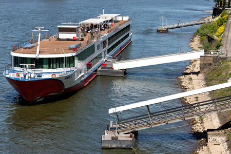 River cruise ship RHEIN MELODIE of Nicko Cruises. RHEIN MELODIE has a capacity of 198 passengers and is 132 m long.