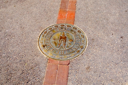 The Freedom Trail Sign, Boston Downtown, USA