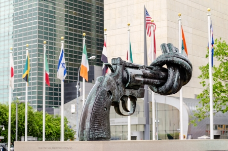 Non Violence Sculpture at the United Nations Headquarters in New York