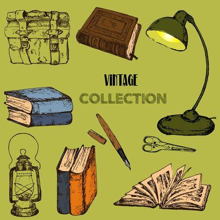 Collection Vintage Sketch Vector