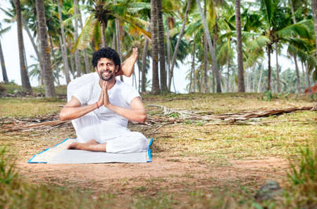 Man In Yoga Pose With Namaste Gesture Royalty Free Images Photos And Pictures