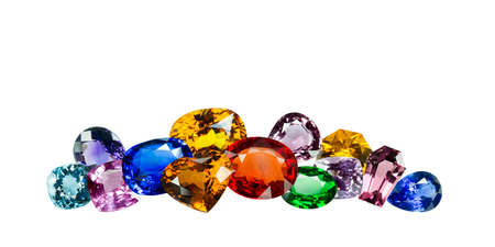 Photo for Bright gems on a white background - Royalty Free Image