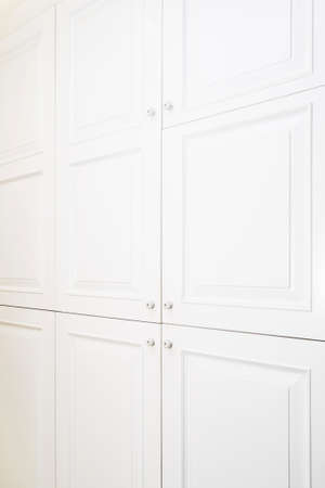 beautiful cabinet with classic drawers in a modern room