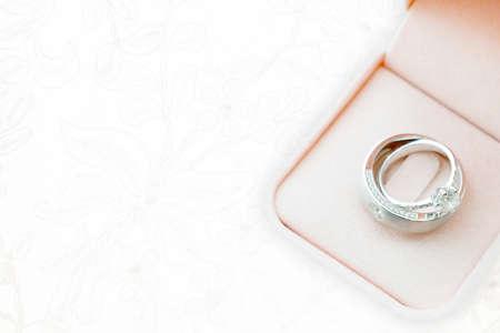Foto de wedding rings wedding dress,texture - Imagen libre de derechos