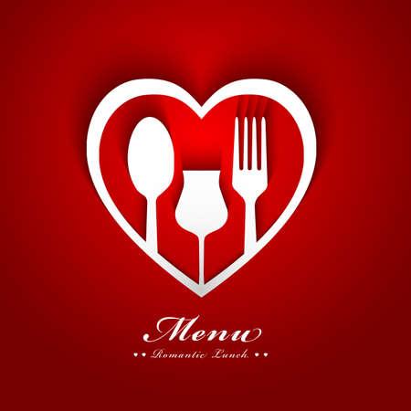 romantic lunch menu design